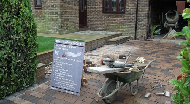Stamped Concrete Driveway in South London
