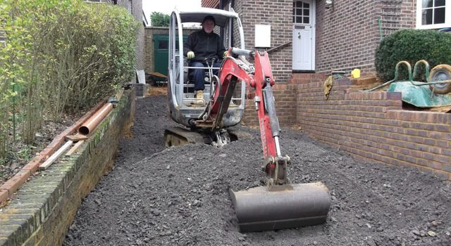 Beginning Stages of a Driveway in London