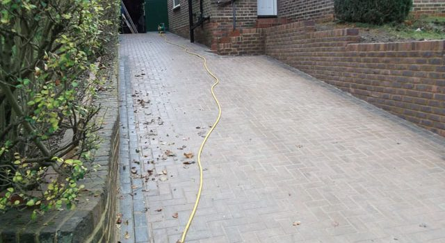 Finished driveway Project in South London