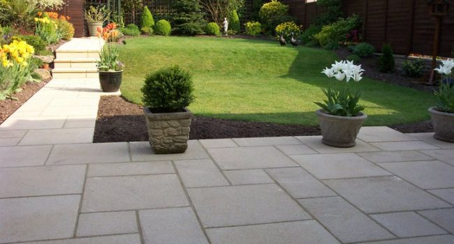 Modern Flagged Paving South London